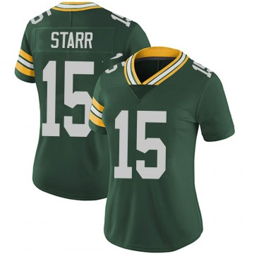 Women's Nike Green Bay Packers Bart Starr Green Team Color Vapor Untouchable Jersey - Limited