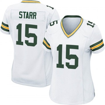 Women's Nike Green Bay Packers Bart Starr White Jersey - Game
