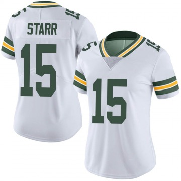 Women's Nike Green Bay Packers Bart Starr White Vapor Untouchable Jersey - Limited
