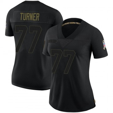 Women's Nike Green Bay Packers Billy Turner Black 2020 Salute To Service Jersey - Limited