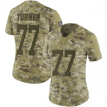 Women's Nike Green Bay Packers Billy Turner Camo 2018 Salute to Service Jersey - Limited