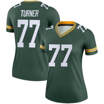 Women's Nike Green Bay Packers Billy Turner Green Jersey - Legend