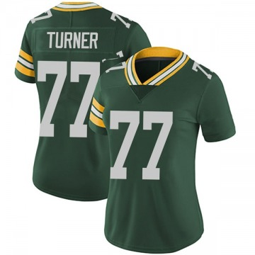 Women's Nike Green Bay Packers Billy Turner Green Team Color Vapor Untouchable Jersey - Limited