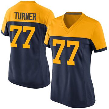 Women's Nike Green Bay Packers Billy Turner Navy Alternate Jersey - Game