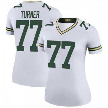 Women's Nike Green Bay Packers Billy Turner White Color Rush Jersey - Legend