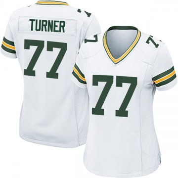 Women's Nike Green Bay Packers Billy Turner White Jersey - Game