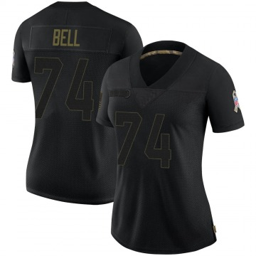 Women's Nike Green Bay Packers Byron Bell Black 2020 Salute To Service Jersey - Limited