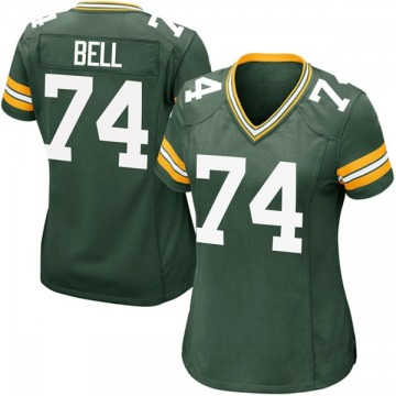 Women's Nike Green Bay Packers Byron Bell Green Team Color Jersey - Game