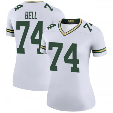Women's Nike Green Bay Packers Byron Bell White Color Rush Jersey - Legend