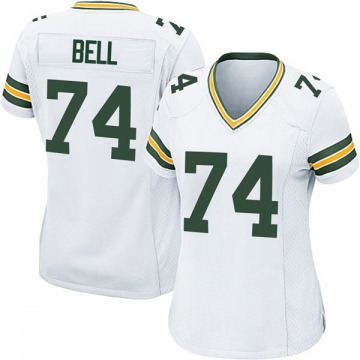 Women's Nike Green Bay Packers Byron Bell White Jersey - Game