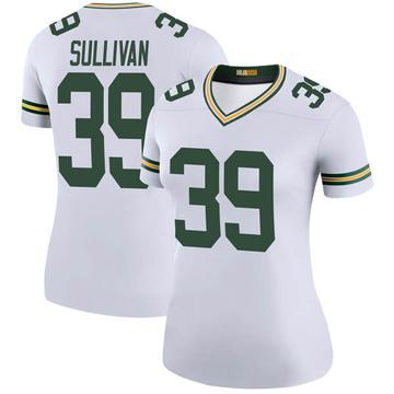 Women's Nike Green Bay Packers Chandon Sullivan White Color Rush Jersey - Legend