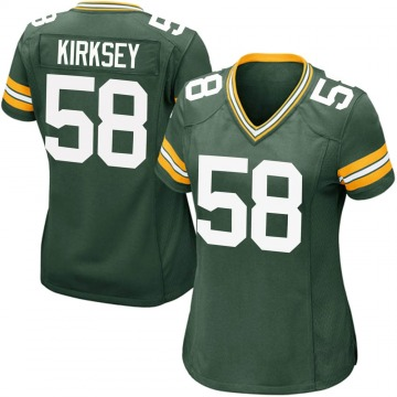Women's Nike Green Bay Packers Christian Kirksey Green Team Color Jersey - Game