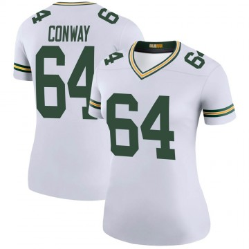 Women's Nike Green Bay Packers Cody Conway White Color Rush Jersey - Legend