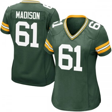 Women's Nike Green Bay Packers Cole Madison Green Team Color Jersey - Game