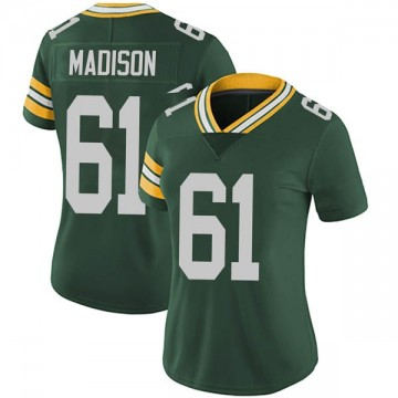 Women's Nike Green Bay Packers Cole Madison Green Team Color Vapor Untouchable Jersey - Limited
