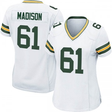 Women's Nike Green Bay Packers Cole Madison White Jersey - Game