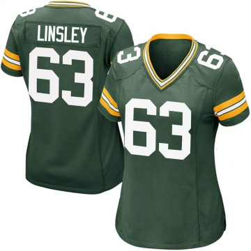 Women's Nike Green Bay Packers Corey Linsley Green Team Color Jersey - Game