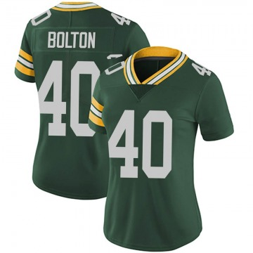 Women's Nike Green Bay Packers Curtis Bolton Green Team Color Vapor Untouchable Jersey - Limited
