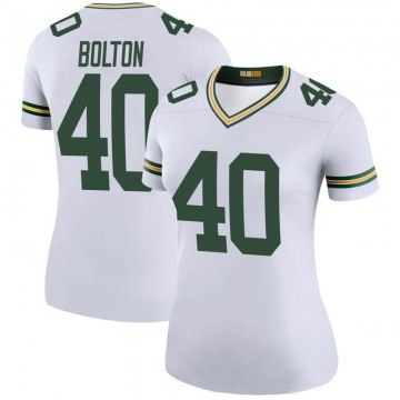 Women's Nike Green Bay Packers Curtis Bolton White Color Rush Jersey - Legend