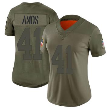Women's Nike Green Bay Packers DaShaun Amos Camo 2019 Salute to Service Jersey - Limited