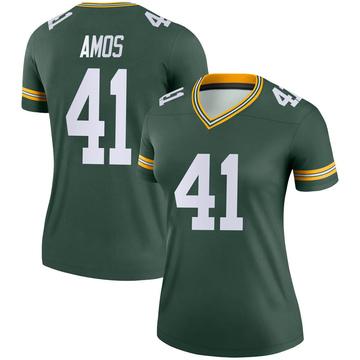 Women's Nike Green Bay Packers DaShaun Amos Green Jersey - Legend
