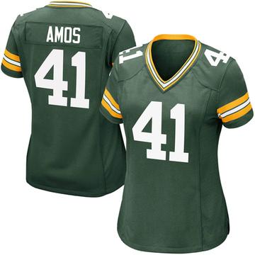 Women's Nike Green Bay Packers DaShaun Amos Green Team Color Jersey - Game