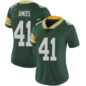 Women's Nike Green Bay Packers DaShaun Amos Green Team Color Vapor Untouchable Jersey - Limited
