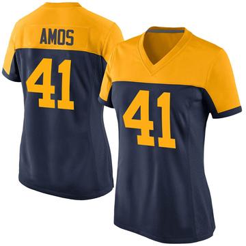 Women's Nike Green Bay Packers DaShaun Amos Navy Alternate Jersey - Game