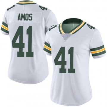 Women's Nike Green Bay Packers DaShaun Amos White Vapor Untouchable Jersey - Limited