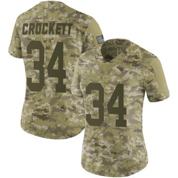 Women's Nike Green Bay Packers Damarea Crockett Camo 2018 Salute to Service Jersey - Limited