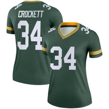 Women's Nike Green Bay Packers Damarea Crockett Green Jersey - Legend