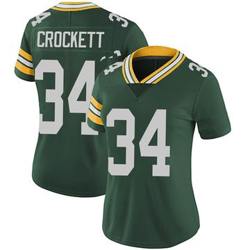 Women's Nike Green Bay Packers Damarea Crockett Green Team Color Vapor Untouchable Jersey - Limited