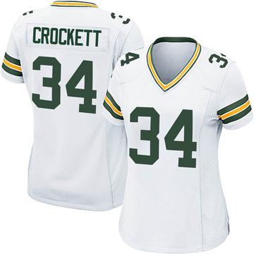 Women's Nike Green Bay Packers Damarea Crockett White Jersey - Game