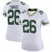 Women's Nike Green Bay Packers Darnell Savage White Color Rush Jersey - Legend