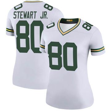 Women's Nike Green Bay Packers Darrell Stewart Jr. White Color Rush Jersey - Legend