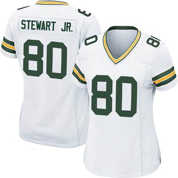 Women's Nike Green Bay Packers Darrell Stewart Jr. White Jersey - Game