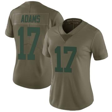 Women's Nike Green Bay Packers Davante Adams Green 2017 Salute to Service Jersey - Limited
