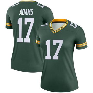 Women's Nike Green Bay Packers Davante Adams Green Jersey - Legend