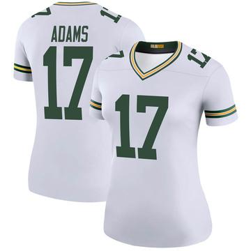 Women's Nike Green Bay Packers Davante Adams White Color Rush Jersey - Legend
