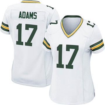 Women's Nike Green Bay Packers Davante Adams White Jersey - Game