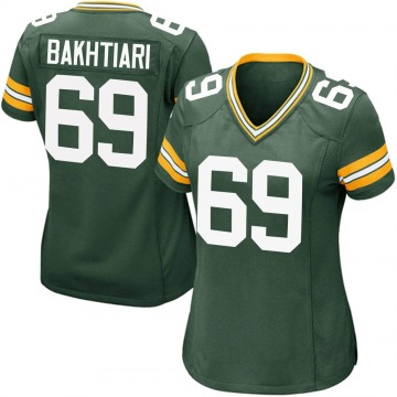 Women's Nike Green Bay Packers David Bakhtiari Green Team Color Jersey - Game