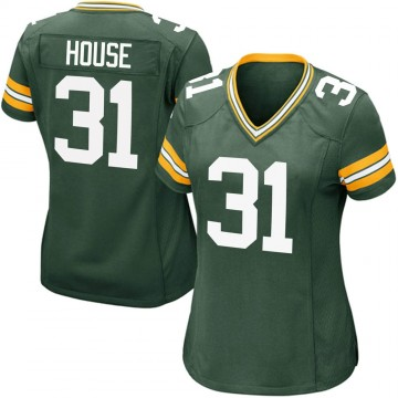 Women's Nike Green Bay Packers Davon House Green Team Color Jersey - Game