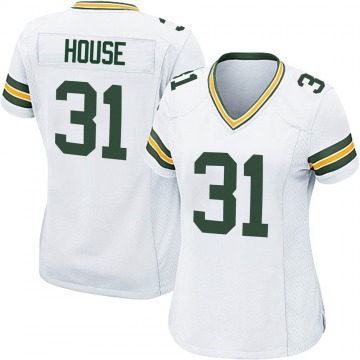 Women's Nike Green Bay Packers Davon House White Jersey - Game