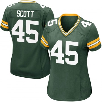 Women's Nike Green Bay Packers Delontae Scott Green Team Color Jersey - Game