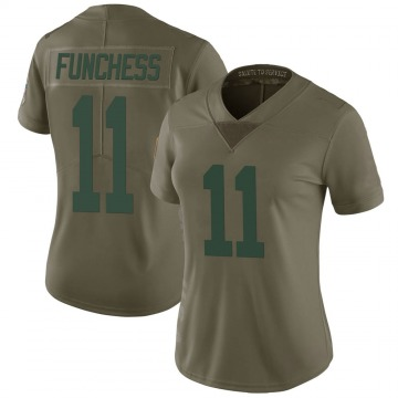 Women's Nike Green Bay Packers Devin Funchess Green 2017 Salute to Service Jersey - Limited
