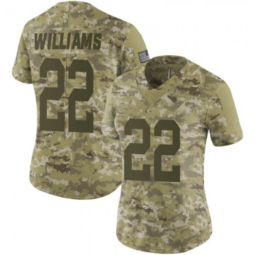 Women's Nike Green Bay Packers Dexter Williams Camo 2018 Salute to Service Jersey - Limited
