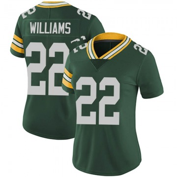 Women's Nike Green Bay Packers Dexter Williams Green Team Color Vapor Untouchable Jersey - Limited