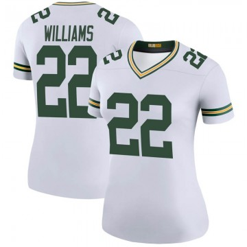 Women's Nike Green Bay Packers Dexter Williams White Color Rush Jersey - Legend