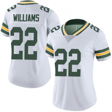 Women's Nike Green Bay Packers Dexter Williams White Vapor Untouchable Jersey - Limited