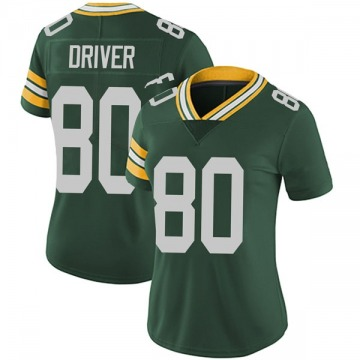 Women's Nike Green Bay Packers Donald Driver Green Team Color Vapor Untouchable Jersey - Limited